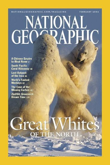 Cover of the February, 2004 National Geographic Magazine-Norbert Rosing-Photographic Print