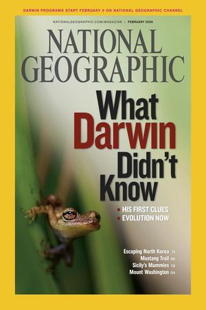 Cover of the February, 2009 National Geographic Magazine-Mattias Klum-Photographic Print