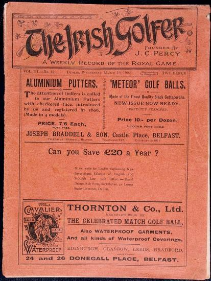 Cover of The Irish Golfer, March 19, 1902-Unknown-Giclee Print