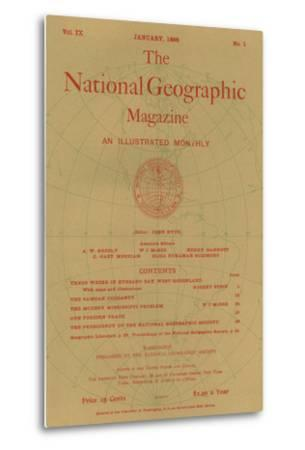 Cover of the January, 1898 National Geographic Magazine
