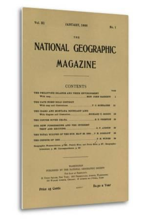 Cover of the January, 1900 National Geographic Magazine