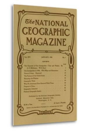Cover of the January, 1905 National Geographic Magazine