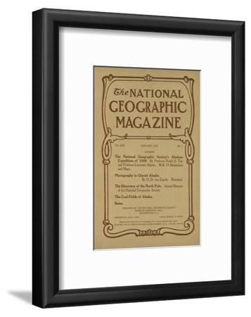 Cover of the January, 1910 National Geographic Magazine