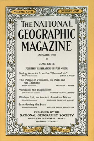 Cover of the January, 1925 National Geographic Magazine