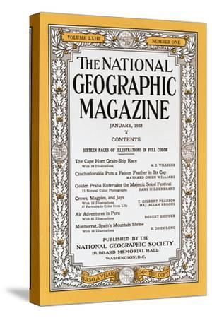 Cover of the January, 1933 National Geographic Magazine