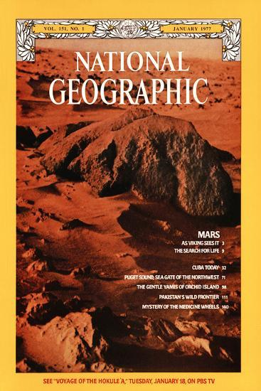 Cover of the January, 1977 National Geographic Magazine--Photographic Print