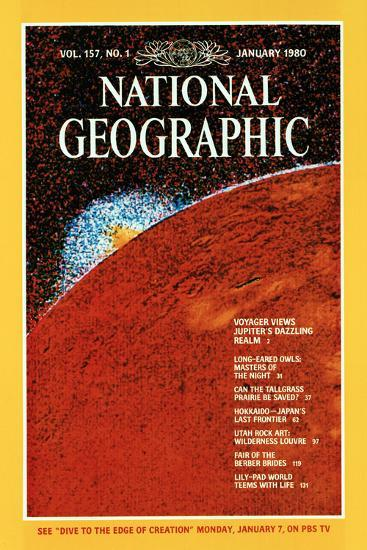 Cover of the January, 1980 National Geographic Magazine--Photographic Print