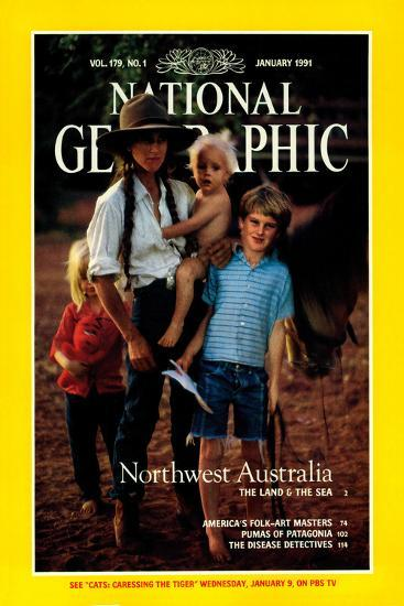 Cover of the January, 1991 National Geographic Magazine Photographic Print  by Sam Abell | Art com