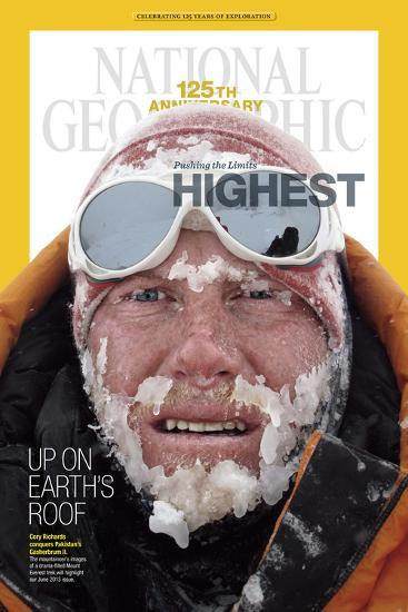 Cover of the January, 2013 National Geographic Magazine-Cory Richards-Photographic Print
