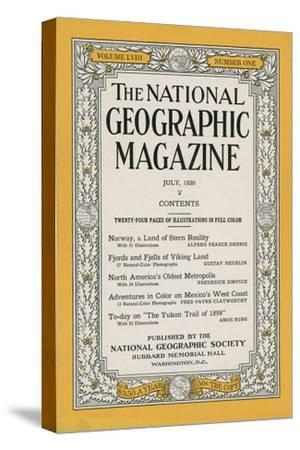 Cover of the July, 1930 National Geographic Magazine