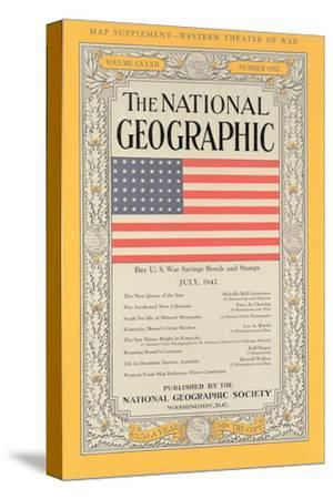 Cover of the July, 1943 National Geographic Magazine