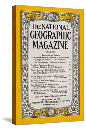 Cover of the July, 1954 National Geographic Magazine