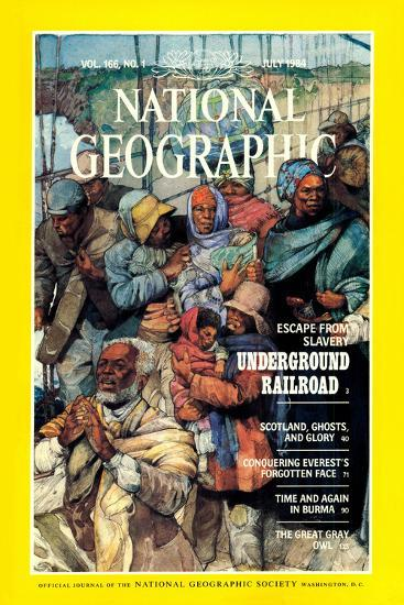 Cover of the July, 1984 National Geographic Magazine-Jerry Pinkney-Photographic Print