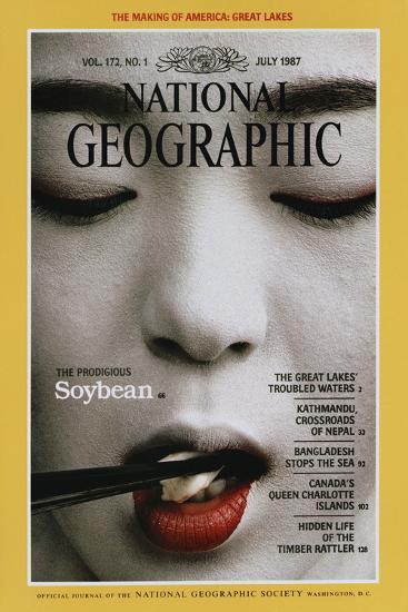 Cover of the July, 1987 National Geographic Magazine-Chris Johns-Photographic Print