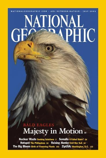 Cover of the July, 2002 National Geographic Magazine-Norbert Rosing-Photographic Print