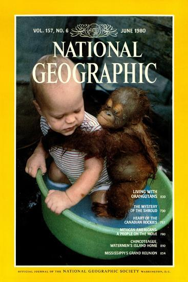Cover of the June, 1980 National Geographic Magazine-Rodney Brindamour-Photographic Print