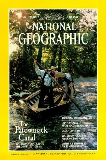 Cover of the June, 1987 National Geographic Magazine-Kenneth Garrett-Photographic Print