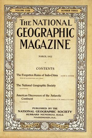 Cover of the March, 1912 National Geographic Magazine