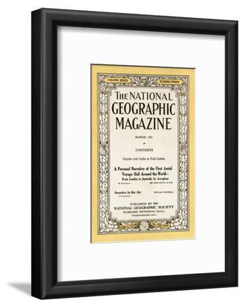 Cover of the March, 1921 National Geographic Magazine