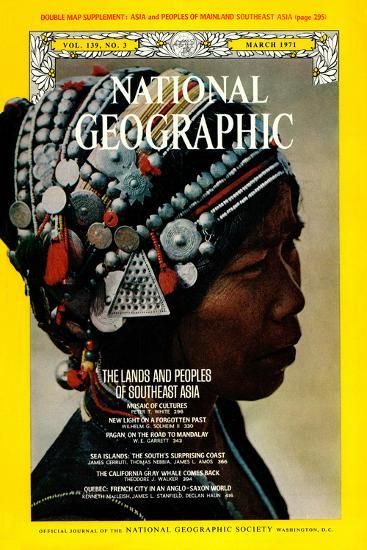 Cover of the March, 1971 National Geographic Magazine-W^E^ Garrett-Photographic Print