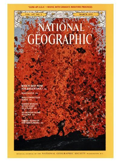 Cover of the March, 1975 National Geographic Magazine-Robert Madden-Photographic Print