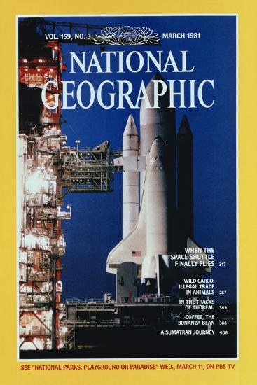 Cover of the March, 1981 National Geographic Magazine-Jon T^ Schneeberger-Photographic Print