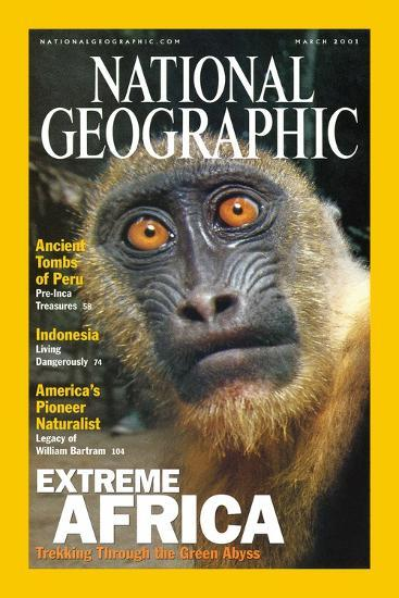 Cover of the March, 2001 National Geographic Magazine-Michael Nichols-Photographic Print