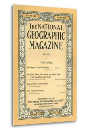Cover of the May, 1912 National Geographic Magazine