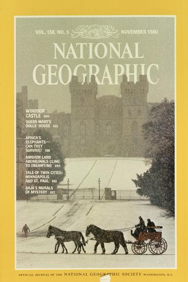 Cover of the November, 1980 National Geographic Magazine-James L^ Stanfield-Photographic Print