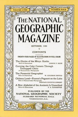 Cover of the October, 1930 National Geographic Magazine