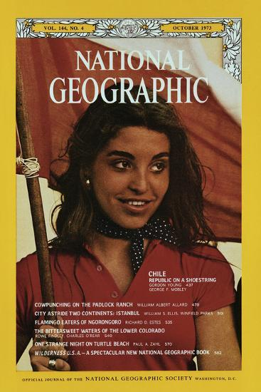 Cover of the October, 1973 National Geographic Magazine-George F^ Mobley-Photographic Print
