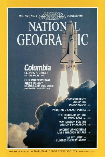 Cover of the October, 1981 National Geographic Magazine-Jon T^ Schneeberger-Photographic Print