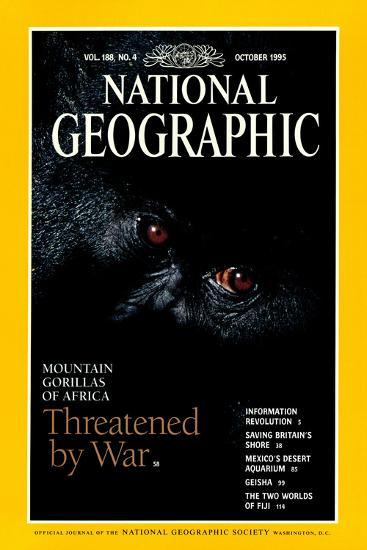 Cover of the October, 1995 National Geographic Magazine-Michael Nichols-Photographic Print