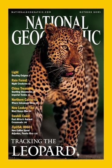 Cover of the October, 2001 National Geographic Magazine-Kim Wolhuter-Photographic Print