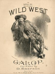 Cover of the Score Sheet for 'Wild West Galop', 1888