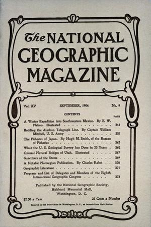 Cover of the September, 1904 National Geographic Magazine