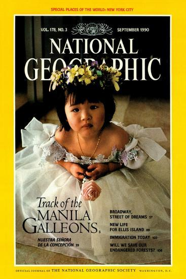 Cover of the September, 1990 National Geographic Magazine-Sisse Brimberg-Photographic Print