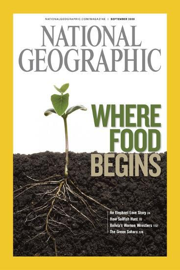 Cover of the September, 2008 National Geographic Magazine-Mark Thiessen-Photographic Print