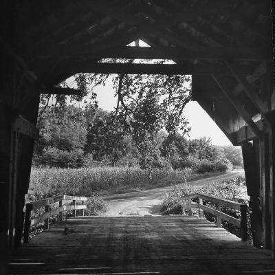Covered Bridge Entrance Way-Bob Landry-Photographic Print