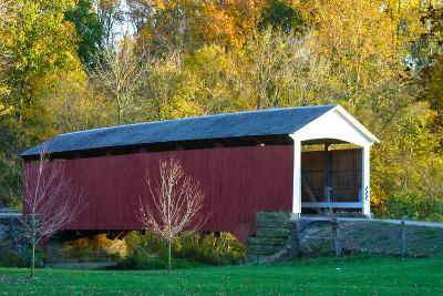 Covered bridge, Indiana, USA-Anna Miller-Photographic Print