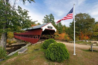 Covered Bridge Over The Swift River, Nh-George Oze-Photographic Print