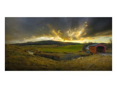 Covered Bridge-Richard Desmarais-Art Print