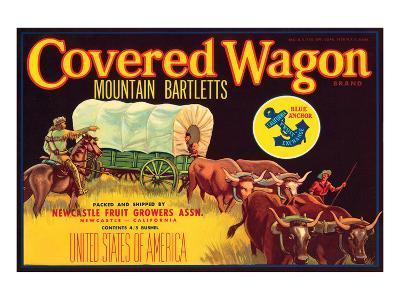 Covered Wagon Brand Mountain Bartletts--Art Print