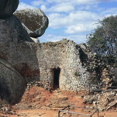 Covered Walkway to Royal Residence, Ruins of Great Zimbabwe--Photographic Print