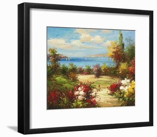 Coveside Garden-Axiano-Framed Art Print