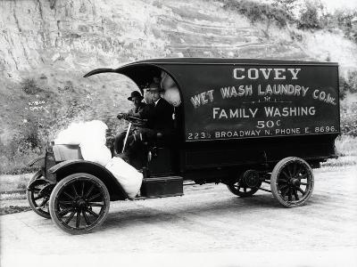 Covey Wet Wash Laundry Co. Inc. Delivery Truck, Seattle, 1913--Giclee Print