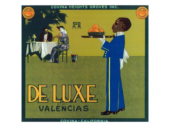 Covina, California, De Luxe Brand Citrus Label-Lantern Press-Art Print
