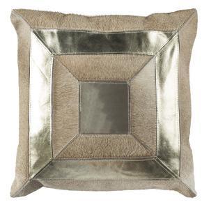 "Covina Metallic Cowhide 20""X20"" Pillow"