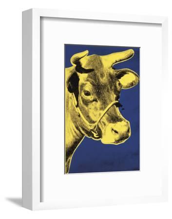 Cow, 1971 (blue & yellow)-Andy Warhol-Framed Art Print