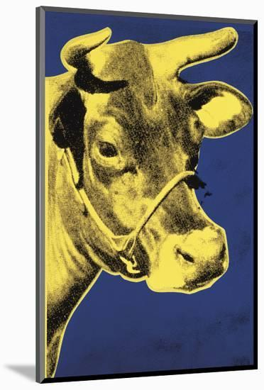 Cow, 1971 (blue & yellow)-Andy Warhol-Mounted Art Print